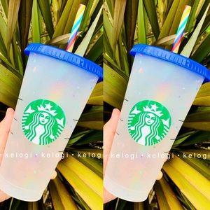 🌈SET of 2🌈New Confetti Rainbow Cups
